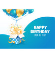 celebrating 36 th years birthday 3d vector image vector image