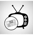 concept news tv retro icon graphic vector image vector image