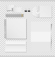 corporate mockup set of printing materials vector image vector image
