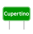Cupertino green road sign vector image vector image