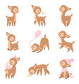 cute baby deer adorable brown forest animal in vector image vector image
