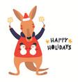 cute kangaroo christmas card