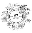 design for spa and beauty salon vector image vector image