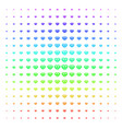 diamond icon halftone spectral pattern vector image