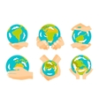 Earth hands vector image