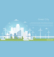 eco city concept big vector image