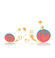 Family of snails vector image vector image