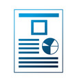 financial document report pie chart vector image