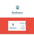 flat social media user profile logo and visiting vector image