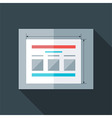 Flat stylized prototyping website vector image