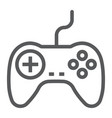 gamepad line icon electronic and device vector image