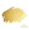gold paint smear stroke stain set abstract gold vector image vector image