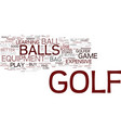 golf stuff to keep in your bag text background vector image vector image