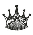 hand drawn typography poster a crown vector image vector image