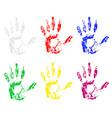 handprint 03 vector image