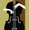 jazz music festival poster background vector image vector image
