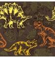 Jurassic dinosaur Seamless pattern vector image vector image