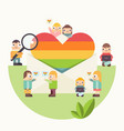 lgbt people community poster vector image