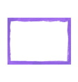 Lilac grunge frame vector image vector image