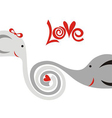 Love elphants cute cartoon vector image