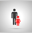 man with girl silhouette simple black icon with vector image vector image