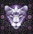 mandala and polygonal head polygonal tiger vector image