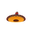 mexican sombrero hat festive cap icon vector image