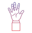 open hand gesture icon image vector image vector image