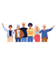 people group portrait friends waving couples vector image vector image