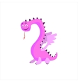 Pink Dragon Childish Monster vector image
