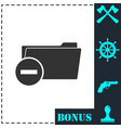 remove folder icon flat vector image vector image