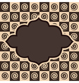 Retro spiral and square pattern vintage vector image