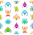 robots and seamless pattern vector image
