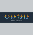 running and jogging people sport run people vector image vector image