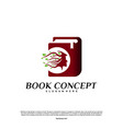 science book logo concept nature people learning vector image