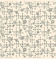 seamless abstract mid century modern pattern vector image