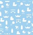 seamless pattern of baby color icons and vector image vector image