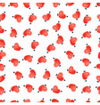 seamless pattern of pink hearts valentines day vector image vector image