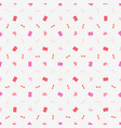 seamless pattern on valentines day texture for vector image vector image