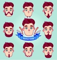 Set of different style mustaches and beards vector image vector image