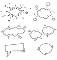 Set of hand drawn comic speech bubbles elements vector image vector image