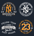 set of new york graphic for t-shirt vector image vector image