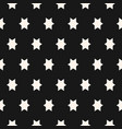 simple geometric seamless pattern with stars vector image vector image