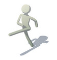 stick man marching icon isometric style vector image vector image
