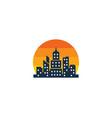 sun town logo icon design vector image vector image
