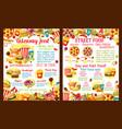 takeaway street food restaurant poster vector image vector image