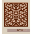 The template pattern for decorative panel vector image vector image