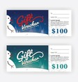 Winter and Snowman Gift Voucher Certificate vector image