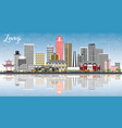zunyi china city skyline with gray buildings blue vector image vector image
