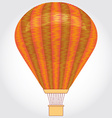 Orange Hot air balloon on a white background vector image